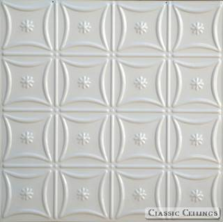 Tin Ceiling Design 200 Painted 003 Creamy White