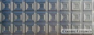 Tin Ceiling Design 204 Backsplash Stainless Steel 1.5x4