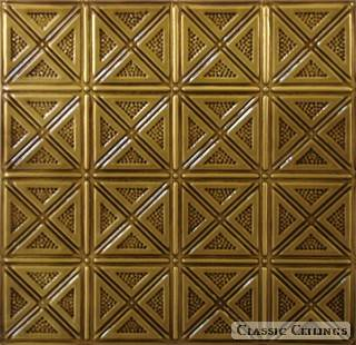 Tin Ceiling Design 205 Antique Plated Brass