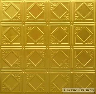 Tin Ceiling Design 207 Plated Aluminium Brass