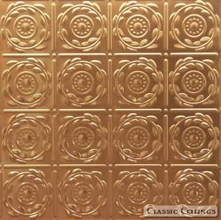 Tin Ceiling Design 208 Plated Steel Copper