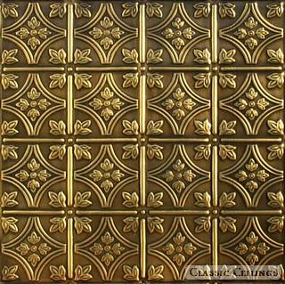 Tin Ceiling Design 209 Antique Plated Brass