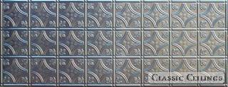 Tin Ceiling Design 209 Backsplash Stainless Steel 1.5x4
