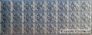 Tin Ceiling Design 210 Backsplash Stainless Steel 1.5x4