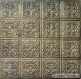 Tin Ceiling Design 211 Antique Plated Brass