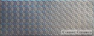 Tin Ceiling Design 234 Backsplash Stainless Steel 1.5x4