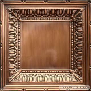 Tin Ceiling Design 2x2508 Antique Plated Copper