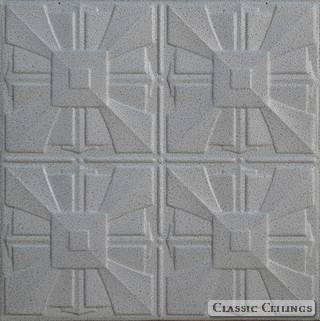 Tin Ceiling Design 314 Painted 001 Black White Vein