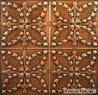 Tin Ceiling Design 335 Antique Plated Copper
