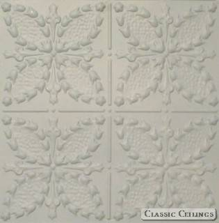 Tin Ceiling Design 335 Pre Painted White
