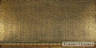 Tin Ceiling Design 410 Antique Plated Brass 2x4