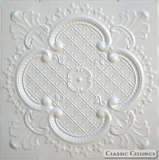 Tin Ceiling Design 500 Painted 003 Creamy White