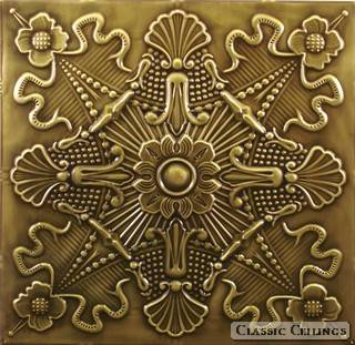 Tin Ceiling Design 501 Antique Plated Brass