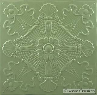 Tin Ceiling Design 501 Painted 601 Pastel Green
