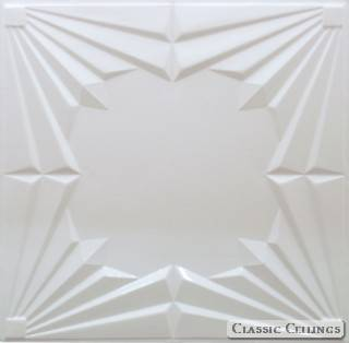 Tin Ceiling Design 507 Painted 002 Sky White