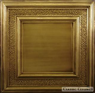 Tin Ceiling Design 509 Antique Plated Brass