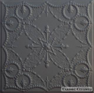 Tin Ceiling Design 535 Painted 102 Black Wrinkle