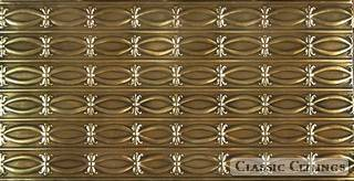 Tin Ceiling Design 606 Antique Plated Brass 2x4