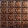 Tin Ceiling Design 210 Antique Plated Copper 2x4