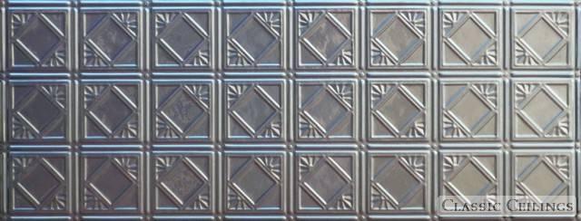 Tin Ceiling Design 207 Backsplash Stainless Steel 1 5x4
