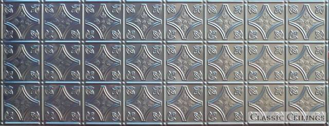 Tin Ceiling Design 209 Backsplash Stainless Steel 1 5x4
