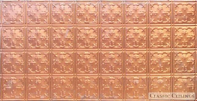 Tin Ceiling Design 210 Solid Copper 2x4