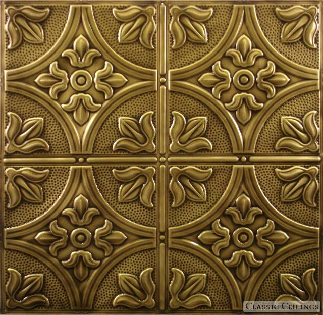How to antique tin ceiling tiles