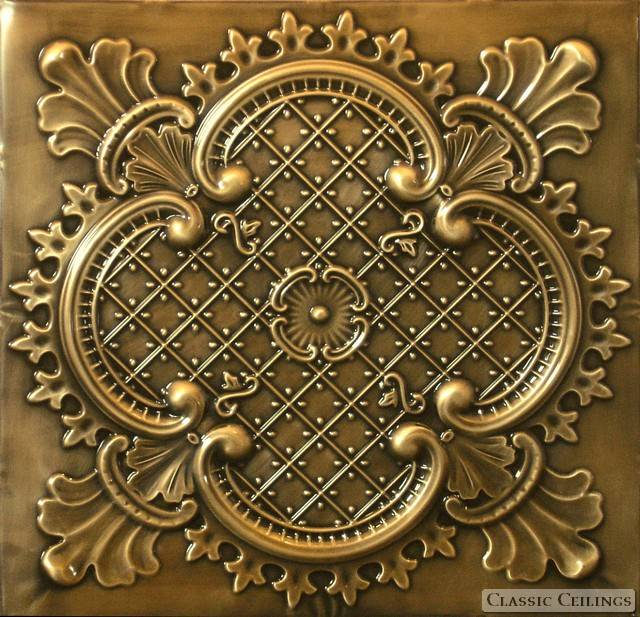 2x2 Antique Plated Tin Ceiling Design 500
